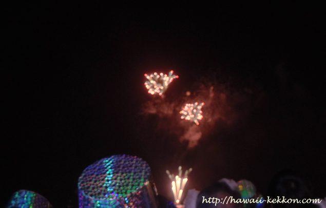 ピンクパーティーからの花火