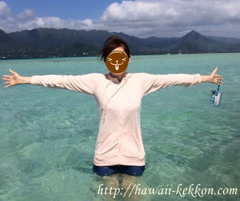ハワイ天国の海